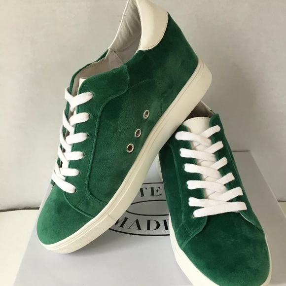 692fe7c9ed2 Steve Madden Green Velvet Sneakers. Hidden wedge.